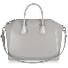 Givenchy Medium Antigona bag in gray leather (14.805 HRK) ❤ liked on Polyvore featuring bags, handbags, givenchy, purses, grey, gray leather purse, leather hand bags, leather man bag, grey handbags and gray purse