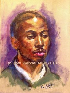 Acrylic painting. I painted this portrait of a young man named William Muhammad, who is also a quite an excellent artist himself. Not counting breaks, this is the product of about 2 1/2 hours of work. I must confess that I particularly enjoy painting African Americans since I am able to discern such a wide array of exciting colors and tones in their faces, seemingly affording me a lot of freedom to explore more of an expressionistic approach to my subject. In any case, I hope that, in this…