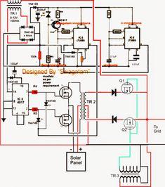 Grid Tie Inverter Circuit Diagram Bargman Breakaway Switch Wiring 11 Melhores Imagens De Inversor Gride Projects E Homemade 100va To 1000va O Circuito