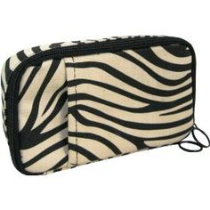 Fit & Healthy On-the-go Medical Supplies Organizer, Zebra, 4x7.5x1.5 Inches