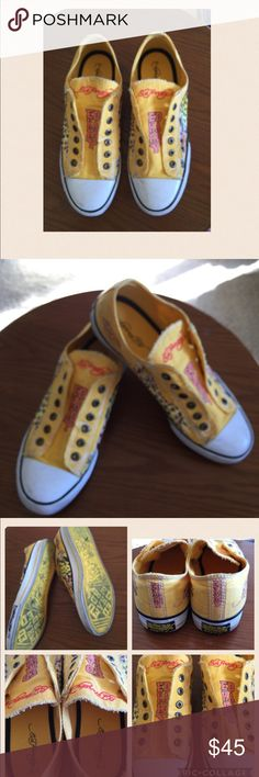 Ed hardy slip on sneakers I'm selling a cute Ed hardy designs slip on shoes size 10 worn few times and in perfect condition Ed Hardy Shoes Sneakers