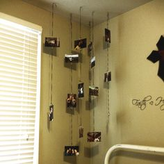 Ideas For Hanging Pictures On Wall Without Frames a cute and simple way to hang photos without frames or tape! 1