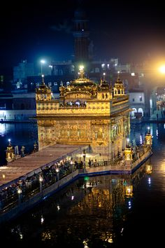 The Golden Temple, Amritsar, India Places Around The World, Oh The Places You'll Go, Travel Around The World, Places To Travel, Places To Visit, Around The Worlds, Wonderful Places, Beautiful Places, Golden Temple Amritsar