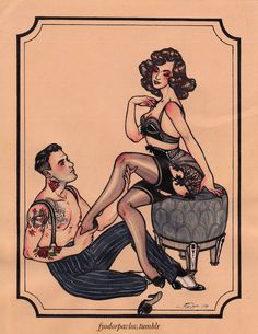 Illustration Lingerie burlesque commission art deco artists on . Burlesque Tattoo, Art Deco Artists, Gothabilly, Pin Up Tattoos, Psychobilly, Pin Up Art, Future Tattoos, Skin Art, Erotic Art