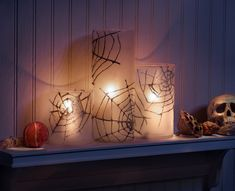 Spooky, creepy spider webs are so much fun to decorate with during the Halloween season! Combining the sparkle of Martha Stewart Crafts Glitter paint along with the look of soft frosted glass is definitely a winning combination and so easy to create!