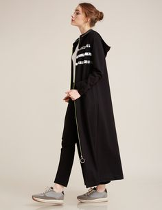 Çizgi Baskılı Giy-Çık Siyah B7 25148