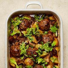 From lamb and aubergine koftas to mushroom bakes Yotam Ottolenghi s meatball recipes Food The Guardian Baked Meatball Recipe, Meatball Recipes, Chicken Recipes, Meatball Bake, Ottolenghi Recipes, Yotam Ottolenghi, Ayurveda, Spicy Tomato Sauce, Stuffed Mushrooms