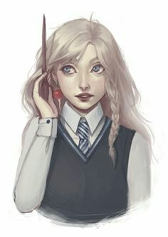 Hello, I'm Luna Lovegood! I'm a Ravenclaw at Hogwarts. I'm quirky and my father is writes articles for the Quibbler. Harry Potter Fan Art, Mundo Harry Potter, Images Harry Potter, Harry Potter Universal, Harry Potter Fandom, Harry Potter Characters, Harry Potter World, Harry Potter Cosplay, Luna Lovegood