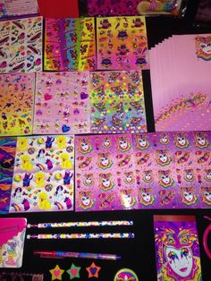 Lisa Frank Pencil Pen Eraser Sharpener Ruler Paper Stickers Note Pad Bracelet | eBay