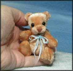 **Beth Franco Bears** Peppin is 2 3/8 inches sitting and 2 3/4 inches tall.