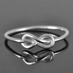 infinity ring love knot ring sterling silver ring by JubileJewel, $25.00