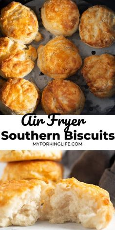 Air Fryer Recipes Breakfast, Air Fryer Oven Recipes, Air Fryer Dinner Recipes, Airfryer Breakfast Recipes, Air Fryer Recipes Vegetarian, Air Frier Recipes, Southern Biscuits, Air Fried Food, Air Fryer Healthy