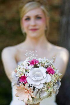 Wedding bouquet made using Cricut! cricut-made-wedding-projects