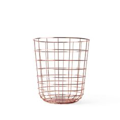 Wire Bin Copper by Norm Architects for Menu | Home Accessories | Vertigo Home