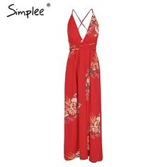9078e328e46 Simplee Backless lace up summer chiffon maxi dress. Boho Summer  DressesSummer Dresses For WomenFloral ...