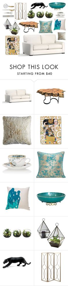 """""""Untitled #6"""" by doctoraromas ❤ liked on Polyvore featuring interior, interiors, interior design, home, home decor, interior decorating, Pottery Barn, DutchCrafters, Pier 1 Imports and Taschen"""