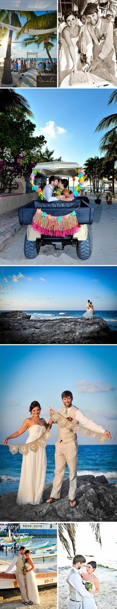 I want this!  A WEDDING AT BUHO'S IN ISLA MUJERES by Cecilia Dumas - The Stowaway Bride Destination Wedding