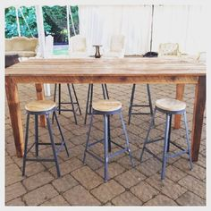 "Petworth Pub Height Tables : Any of our farm tables can turn into pub height with our new 42"" shaker legs.  Perfect for mixed height seating."