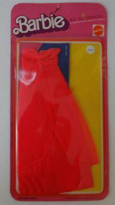 VTG 1975 Mattel Barbie Doll Strapless hot pink Dress Best Buy Fashions 9962 NIP
