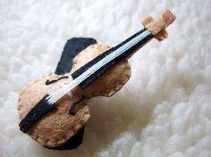 Felt Hair Clip Violin by LuluLyna on Etsy