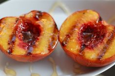 Grilled Peaches with Brown Sugar and Honey recipe on Food52