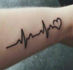 Resultado de imagen de heartbeat tattoo