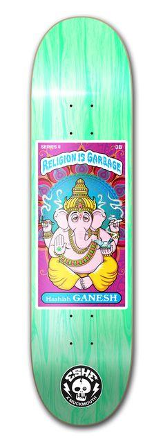 Hashish Ganesh Skateboard Design, Skateboards, Ganesh, Religion, Graphic Design, Skateboard, Visual Communication, Ganesha, Skateboarding