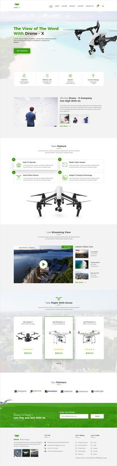 Drone X is a clean and modern design #PSD template for #webdev single #product landing page websites download now➩ https://themeforest.net/item/drone-x-product-landing-page/19345690?ref=Datasata