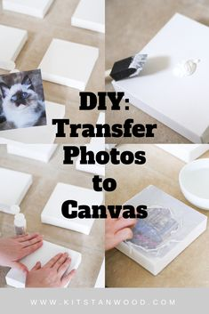 transfer photos to canvas with a few simple steps! - Real Time - Diet, Exercise, Fitness, Finance You for Healthy articles ideas Crafts For Teens, Crafts To Sell, Home Crafts, Diy And Crafts, Paper Crafts, Canvas Photo Transfer, It Goes On, Photo Craft, Diy Wall Art