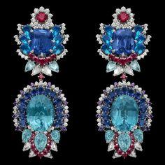 'Dentelle Saphir Iris' earrings/ Dear Dior collection