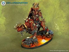 Age of Sigmar | Khorne Bloodbound | Khorne Lord on Juggernauth by Den of…