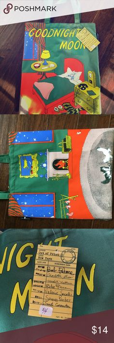 Goodnight Moon Classic Book tote by Out of Print Bring your favorite children's book with you through life in this super cute canvas tote!!! New with tags! Out of Print donates a book to a community in need with each purchase.  Be a part of something bigger :) out of print Bags Totes