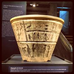 """The oldest water clock (or """"clepsydra"""") known, the Egyptian """"hourglass of Karnak,"""" dating to around 1400 BC"""
