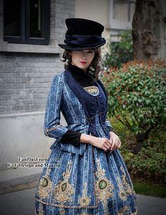 fanplusfriend - Elegant Gothic Dandy Bias Top Hat