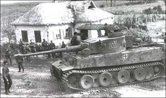German Tiger Tank, the sheer size of this is shown well against the troops #WorldWar2 #Tanks