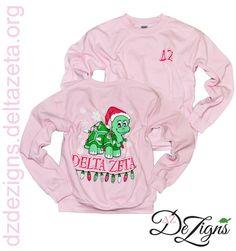 DZ DeZigns Gifts -Delta Zeta Pink Holiday Sweatshirt
