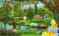 The Garden of Eden is the paradise for Adam and Eve. The paradise for lennie is his rabbit farm because Lennie was promised by George. Lennie wanted the farm all through the book. Jehovah Paradise, Paradise On Earth, Illuminati, Cain Y Abel, Adam Et Eve, Paradise Pictures, Paradise Images, 12 Tribes Of Israel, Garden Of Eden