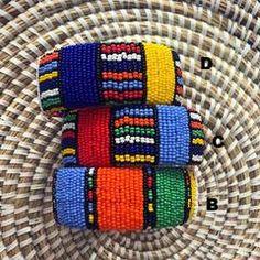 Back in stock: Zulu Beaded Bracelets Ethnic Jewelry, Beaded Jewelry, Jewellery, African Beaded Bracelets, Zulu Women, Black Marriage, Color Meanings, Beaded Embroidery, Spice Things Up