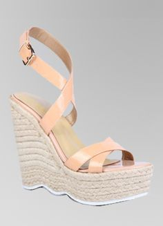 Aliexpress.com : Buy 2013 New Woman JF Nude Patent Leather Linen Wedge Platform Pumps from Reliable new woman platform sandals suppliers on Guccn $49.99