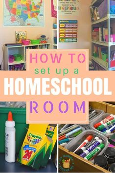 How to Set up a Homeschool Room - My Momma Taught Me