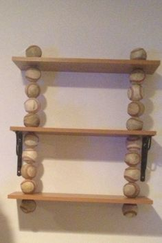 My DIY baseball shelf!! Comment for directions...