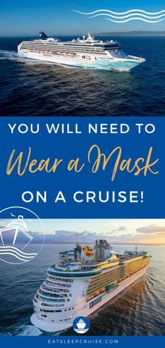 Yes, You Will Need to Wear a Mask on a Cruise- With more solid evidence now, all recent signs indicate that yes, you will need to wear a mask on a cruise in the United States. #cruise #cruiseplanning #cruisetips #wewillbeback #eatsleepcruise Packing List For Cruise, Cruise Tips, Cruise Travel, Cruise Vacation, Cruise Excursions, Cruise Destinations, Bahamas Cruise, Caribbean Cruise, Cruise Theme Parties