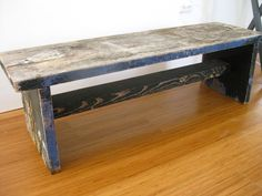 DIY Patterned Bench