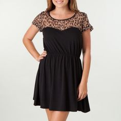 love the sheer leopard print on top!