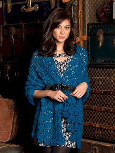 Wrapster Shawl | Yarn | Free Knitting Patterns | Crochet Patterns | Yarnspirations