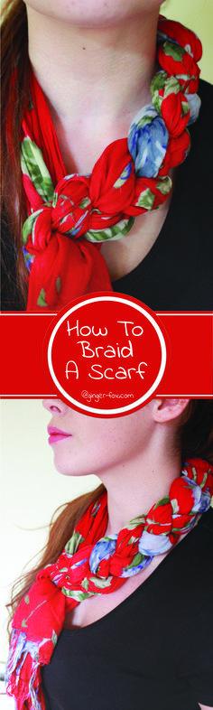 How to Braid a Scarf  Step by step Tutorial, Autumn/ Fall Fashion 2016 #fashion #autumn #scarf