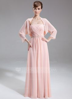 Mother of the Bride Dresses - $123.99 - A-Line/Princess Strapless Floor-Length Chiffon Mother of the Bride Dress With Ruffle Beading (008025848) http://jjshouse.com/A-Line-Princess-Strapless-Floor-Length-Chiffon-Mother-Of-The-Bride-Dress-With-Ruffle-Beading-008025848-g25848
