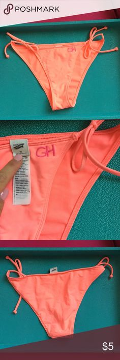 1061598594 Gilly Hicks neon bikini bottoms NWOT vibrant bottoms with ties on sides.  Never been worn