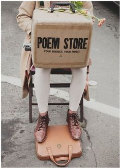 Poems for sale - Farmers Market, Arcata, Ca.    http://vi.sualize.us/view/8f1c63f41109a562372631e672f7a6fe/