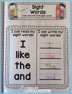 Kindergarten Sight Words Interactive Notebooks images ideas from All About Kindergarten Journeys Kindergarten, Kindergarten Language Arts, Kindergarten Activities, Kindergarten Classroom, Preschool Ideas, Classroom Activities, Preschool Crafts, Teaching Ideas, Classroom Ideas